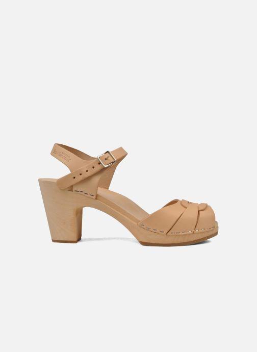 Sandales et nu-pieds Swedish Hasbeens Peep toe super high Beige vue derrière