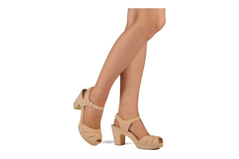 Sandales et nu-pieds Swedish Hasbeens Peep toe super high Beige vue bas / vue portée sac