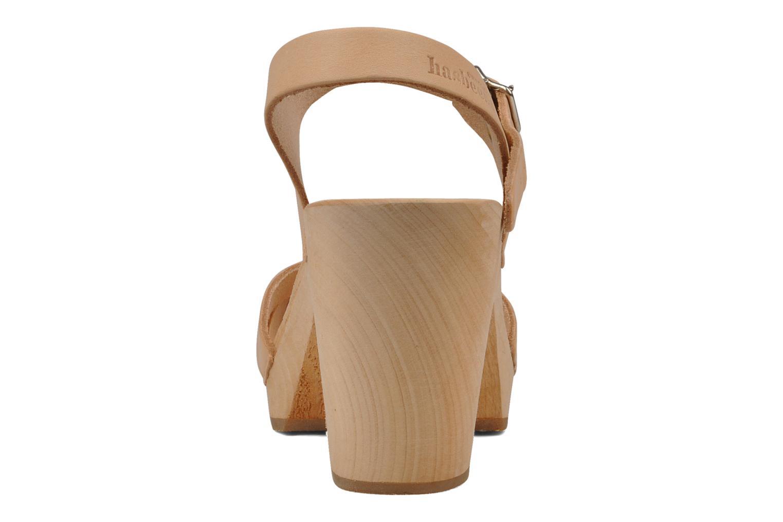 Sandales et nu-pieds Swedish Hasbeens Peep toe super high Beige vue droite
