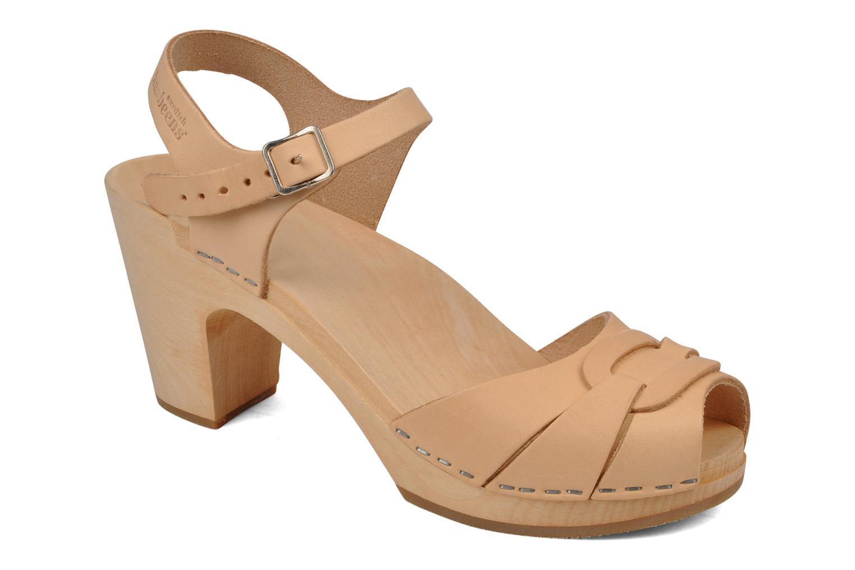 Sandales et nu-pieds Swedish Hasbeens Peep toe super high Beige vue détail/paire
