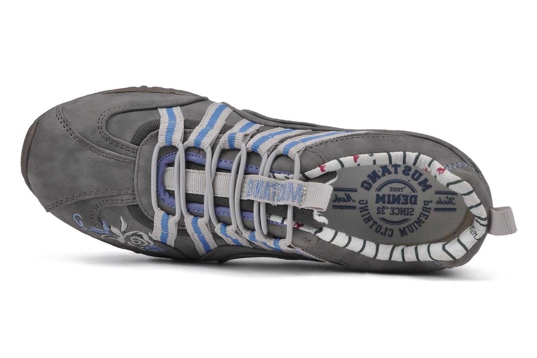 Baskets Mustang shoes Laggi Gris vue gauche