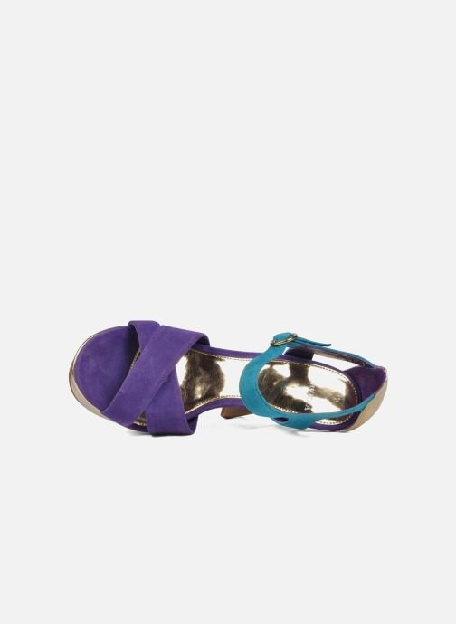 Sandals Carvela Gallant Bronze and Gold view from the left