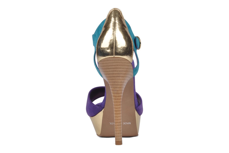 Sandales et nu-pieds Carvela Gallant Or et bronze vue droite