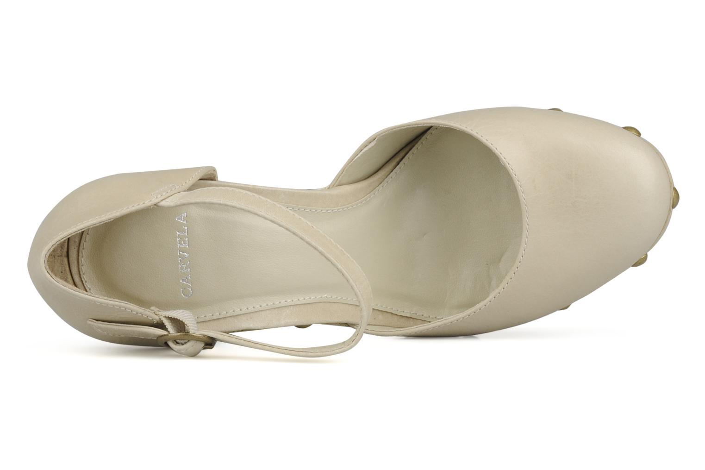 Zapatos de tacón Carvela Acorn Beige vista lateral izquierda