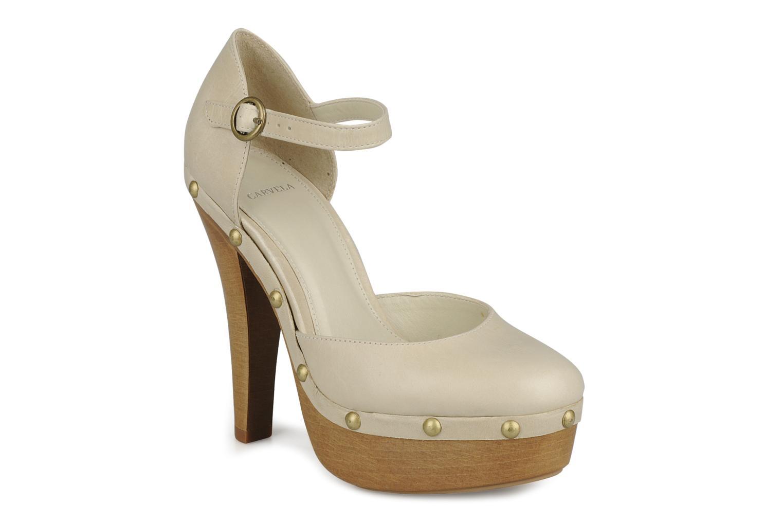 Zapatos de tacón Carvela Acorn Beige vista de detalle / par