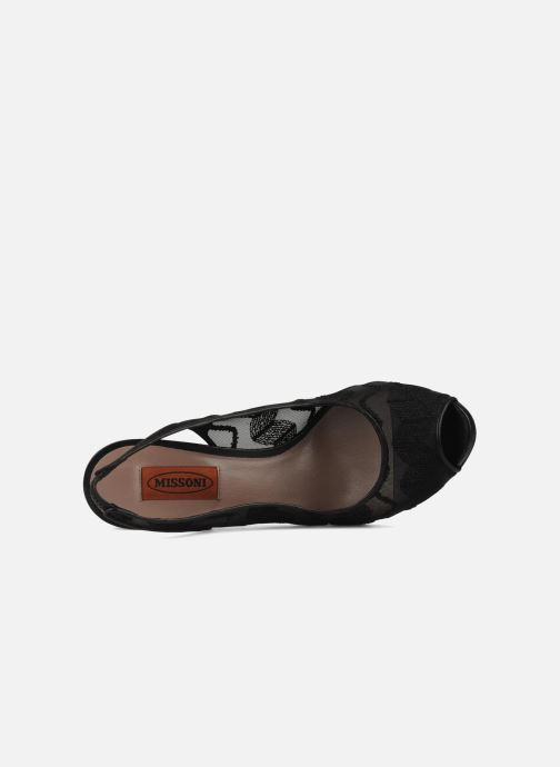 Escarpins Missoni Asella Noir vue gauche