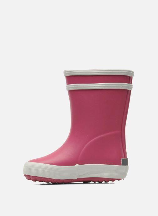 Stiefel Aigle Baby Flac rosa ansicht von vorne