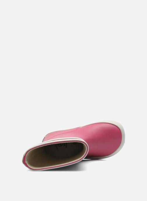 Stiefel Aigle Baby Flac rosa ansicht von links