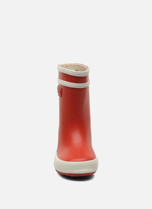 Bottes Aigle Baby Flac Rouge vue portées chaussures