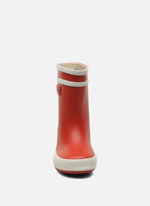Stiefel Aigle Baby Flac rot schuhe getragen