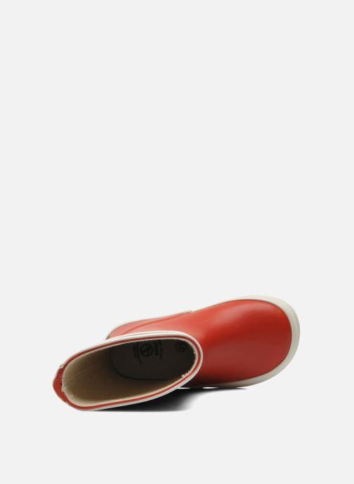 Stiefel Aigle Baby Flac rot ansicht von links