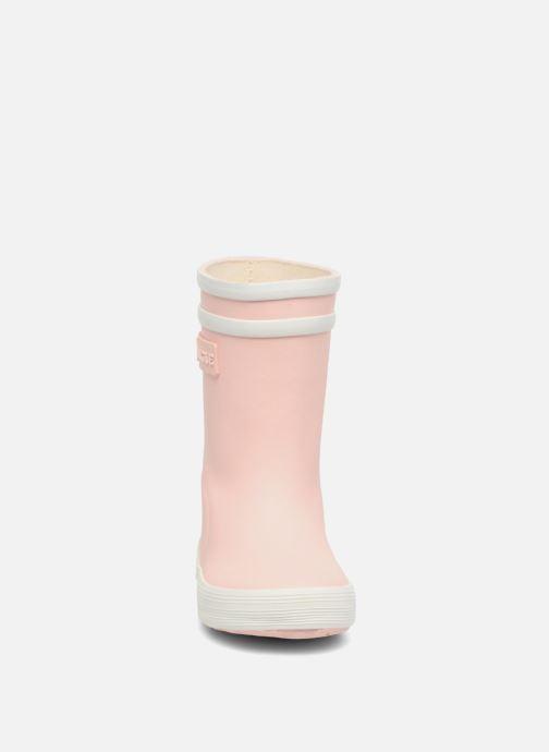 Bottes Aigle Baby Flac Rose vue portées chaussures