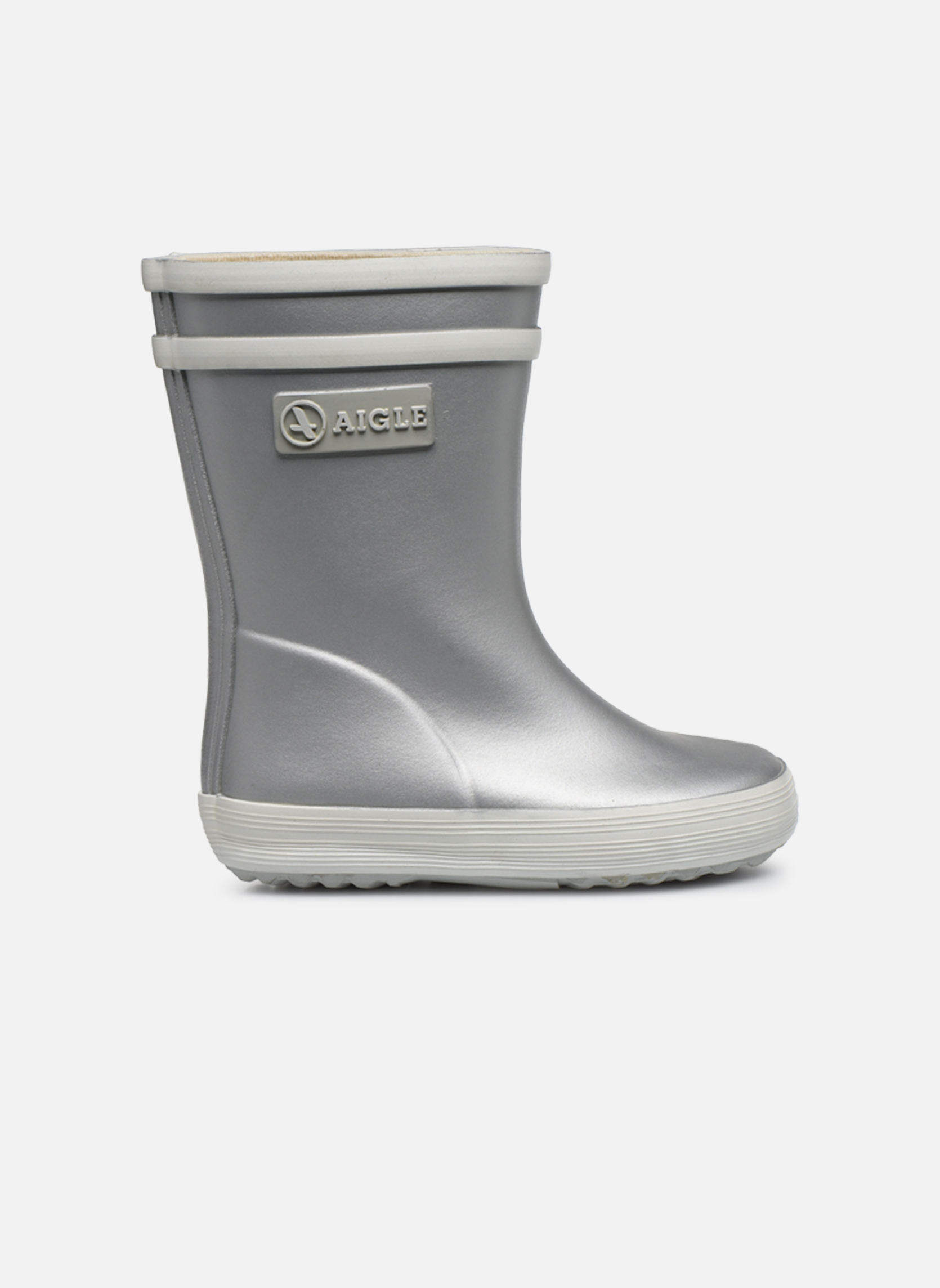 Boots & wellies Aigle Baby Flac Silver back view