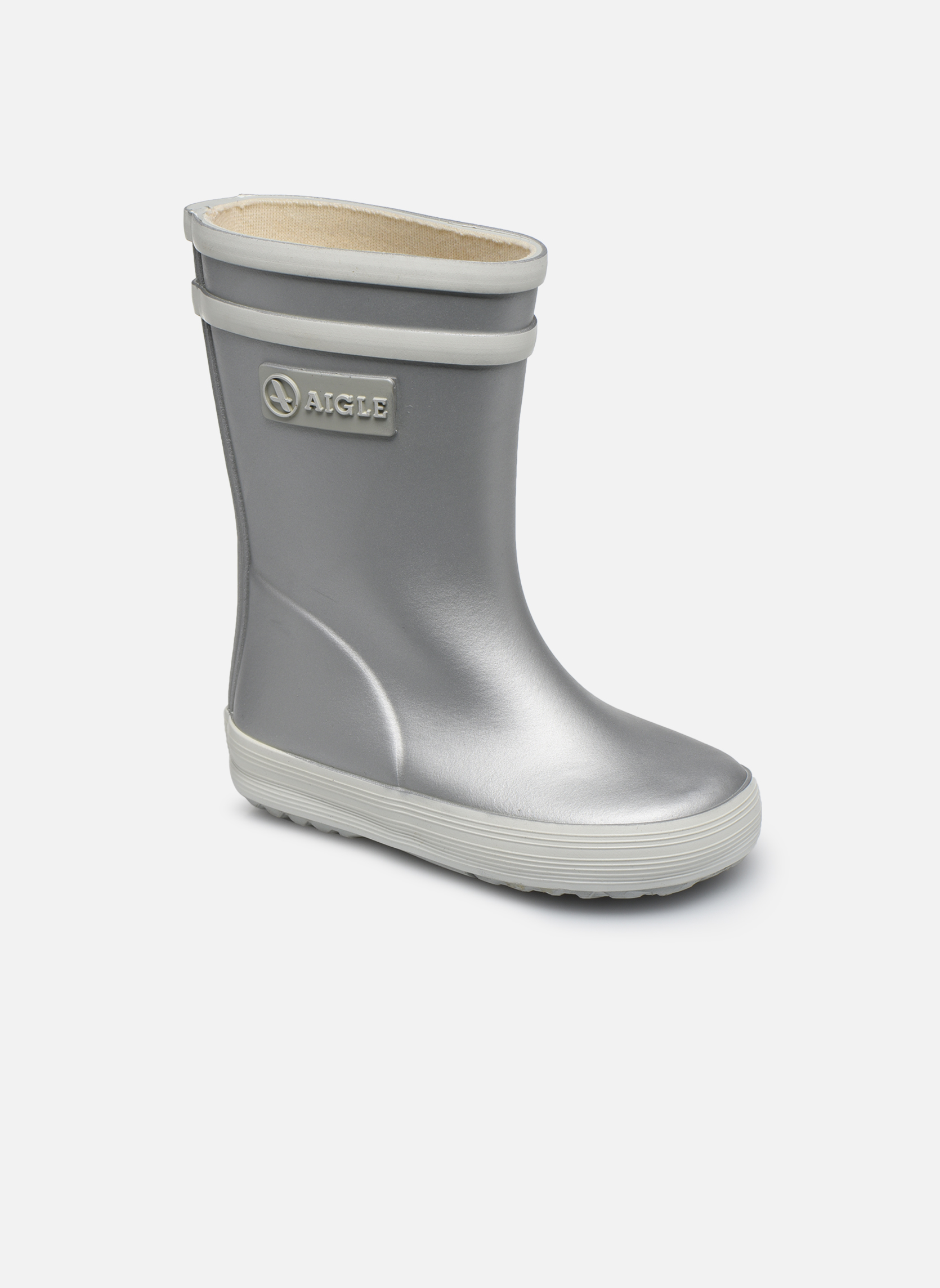 Boots & wellies Aigle Baby Flac Silver detailed view/ Pair view