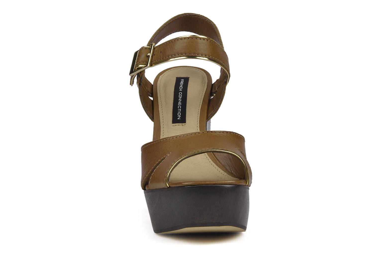 Sandales et nu-pieds French Connection Jackson Marron vue portées chaussures