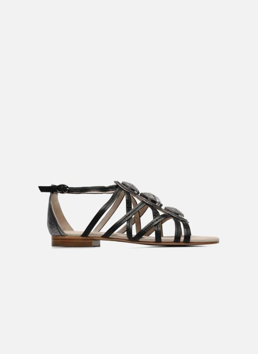 Sandals House of Harlow 1960 Silver Black back view