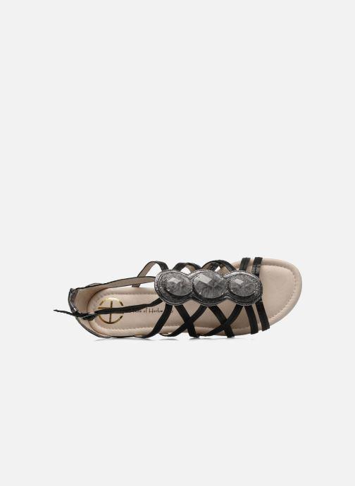 Sandales et nu-pieds House of Harlow 1960 Silver Noir vue gauche