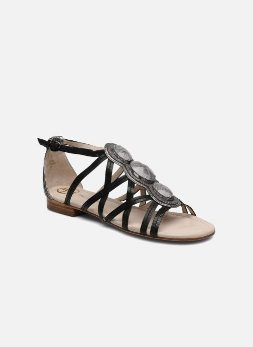 Sandals House of Harlow 1960 Silver Black detailed view/ Pair view