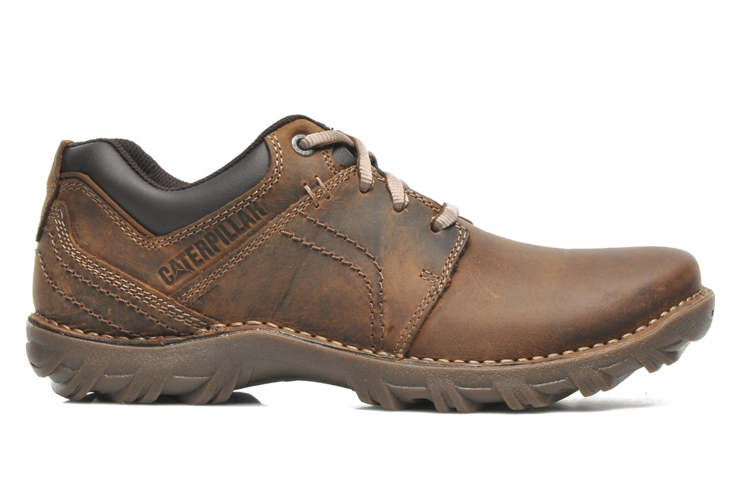 Lace-up shoes Caterpillar Emerge Brown back view