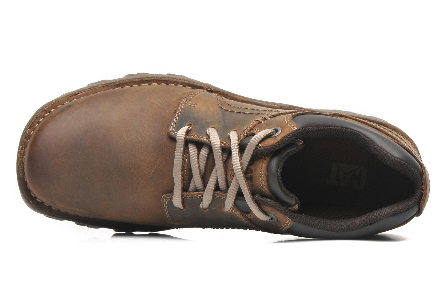 Lace-up shoes Caterpillar Emerge Brown view from the left