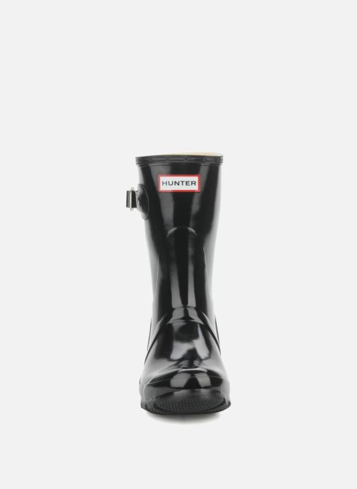 Bottines et boots Hunter Original short gloss Noir vue portées chaussures