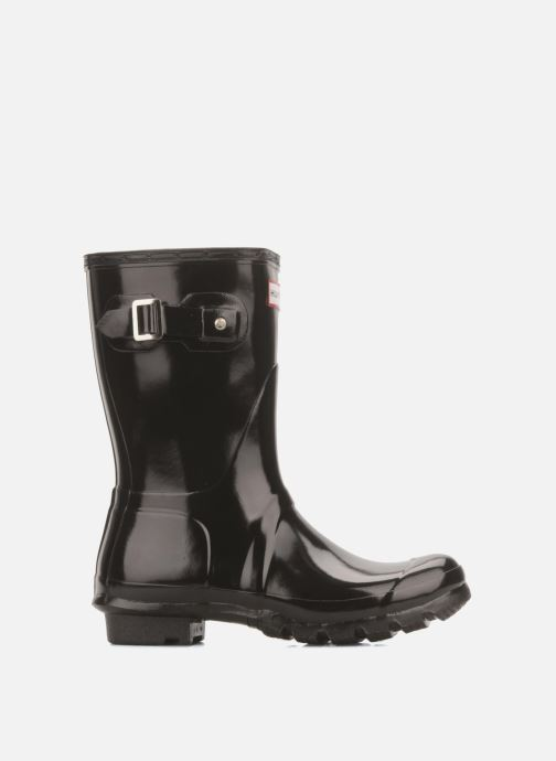 Bottines et boots Hunter Original short gloss Noir vue derrière