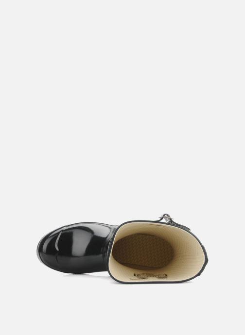 Bottines et boots Hunter Original short gloss Noir vue gauche