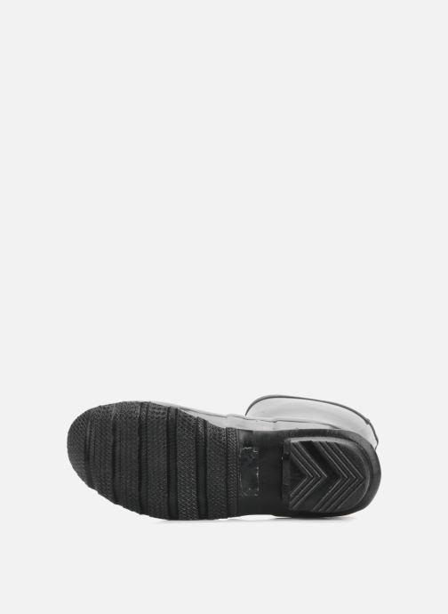 Bottines et boots Hunter Original short gloss Noir vue haut