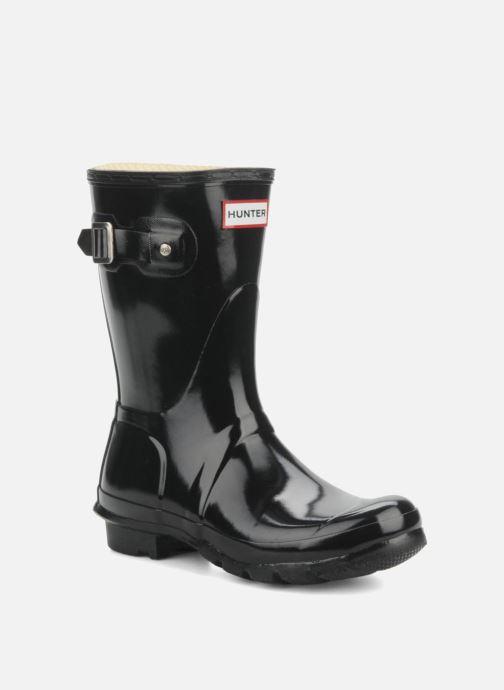 Bottines et boots Hunter Original short gloss Noir vue détail/paire