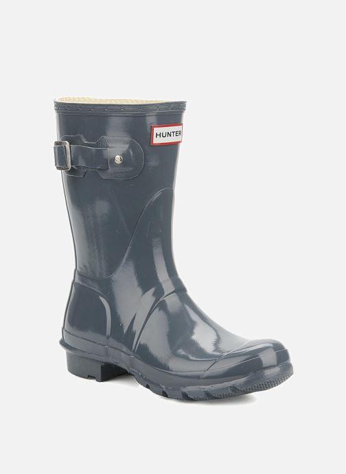 Bottines et boots Hunter Original short gloss Gris vue détail/paire