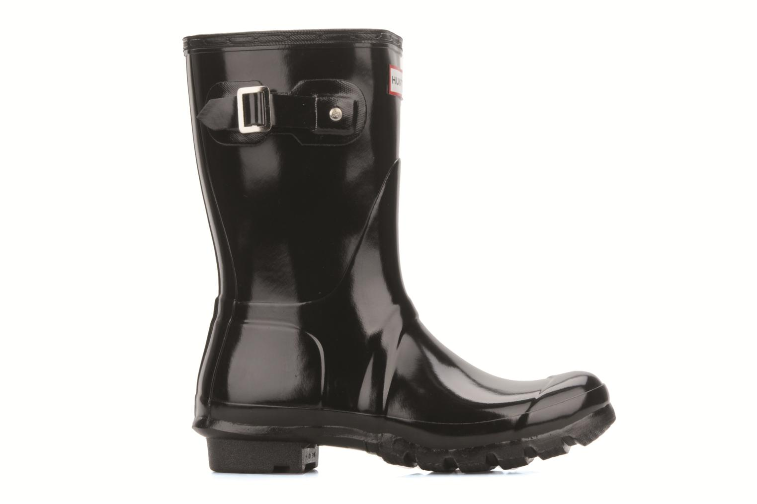 Bottines et boots Hunter Original short gloss Noir vue derrière
