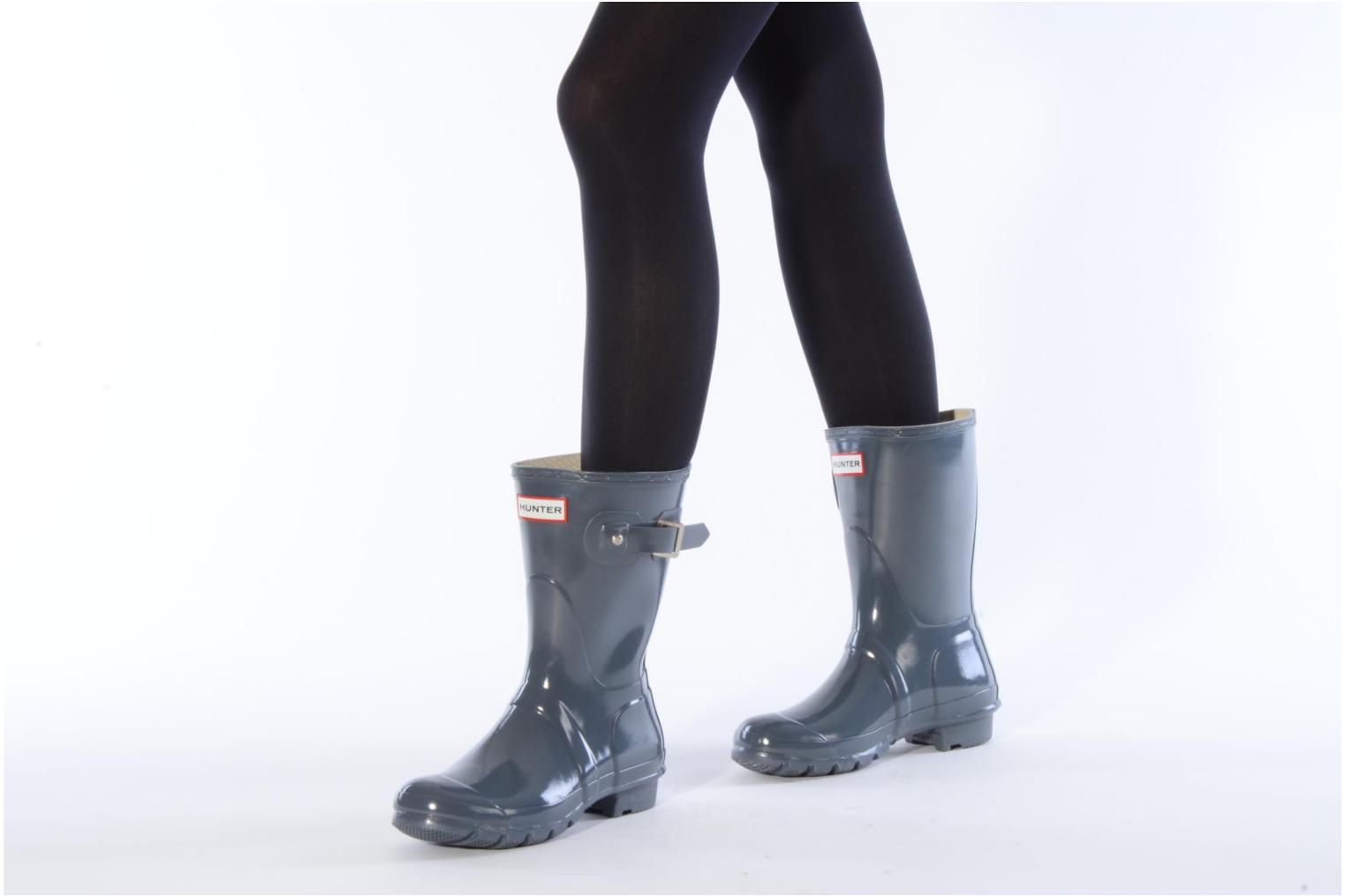 Ankle boots Hunter Hunter original short gloss w Grey view from underneath / model view