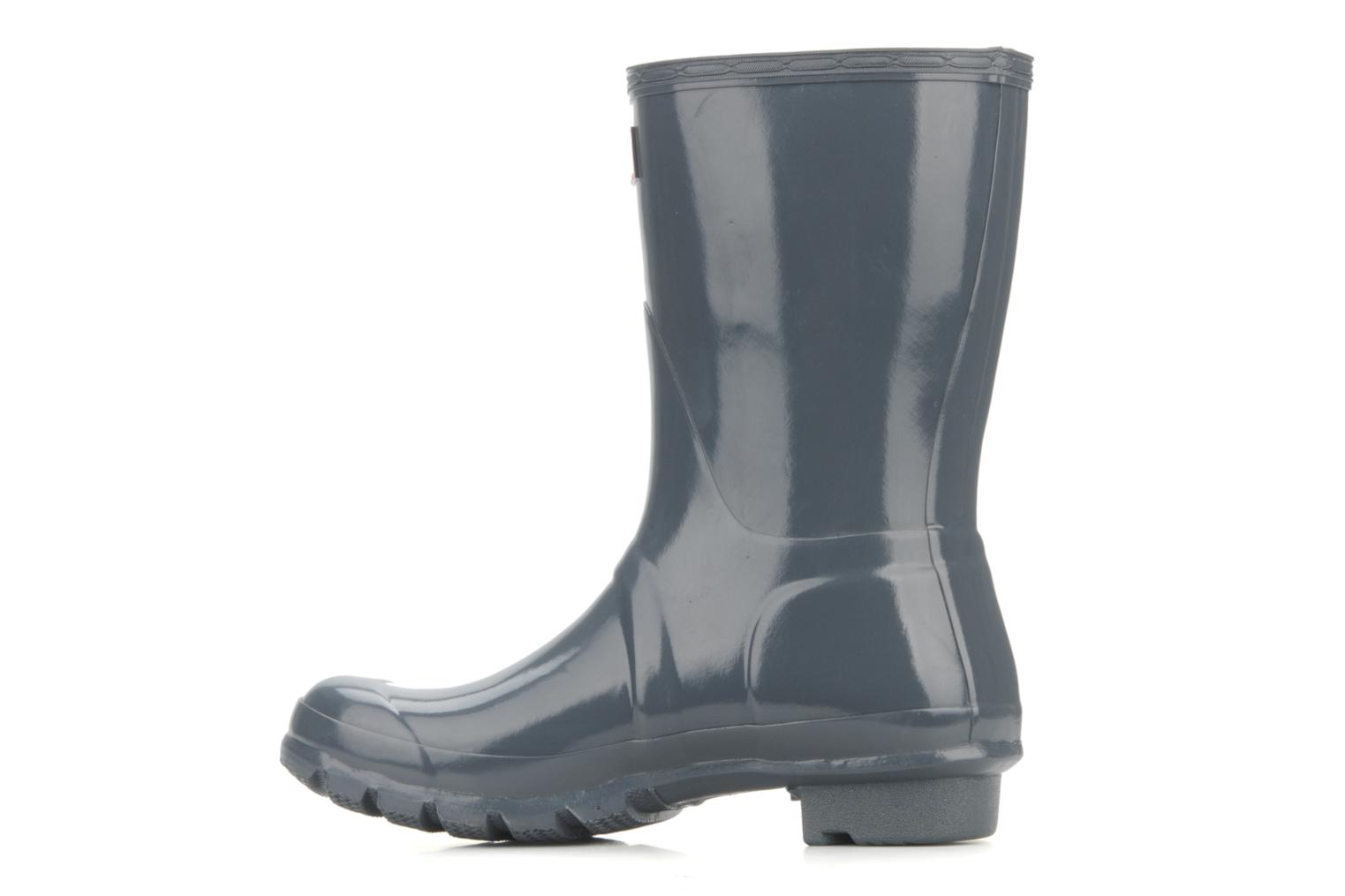 Ankle boots Hunter Hunter original short gloss w Grey front view