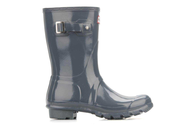 Ankle boots Hunter Hunter original short gloss w Grey back view