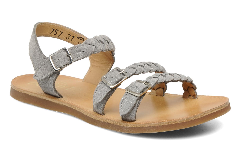 Sandaler Pom d Api Plagette gaspard Grå detaljeret billede af skoene