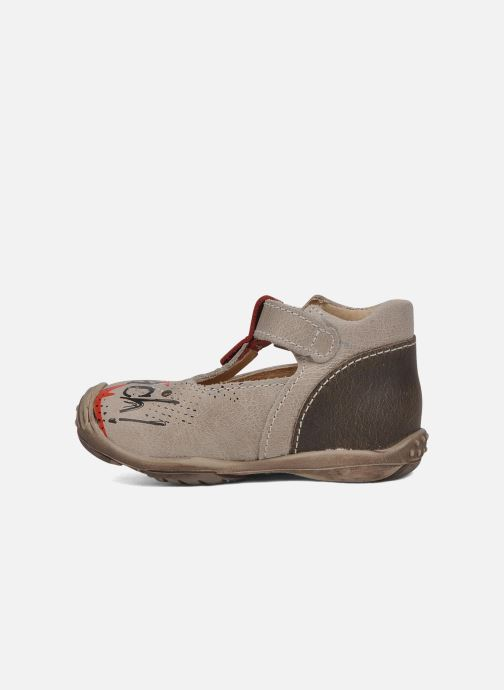Botines de verano Little Mary Hugues Beige vista de frente