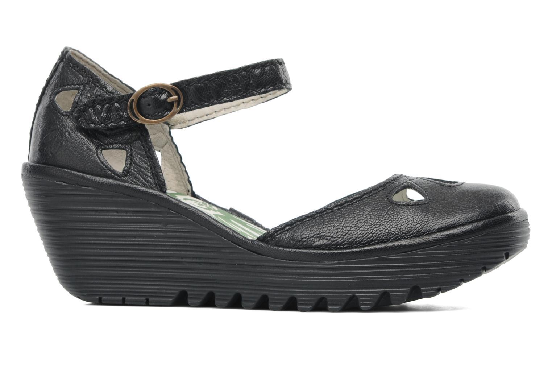 Sandalen Fly London Yuna Zwart achterkant