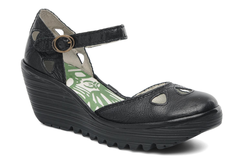 Sandalen Fly London Yuna schwarz detaillierte ansicht/modell