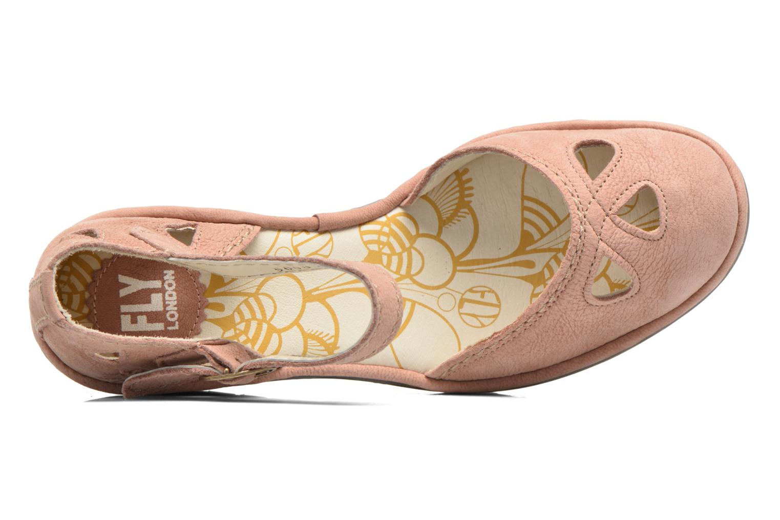 Sandalias Fly London Yuna Rosa vista lateral izquierda