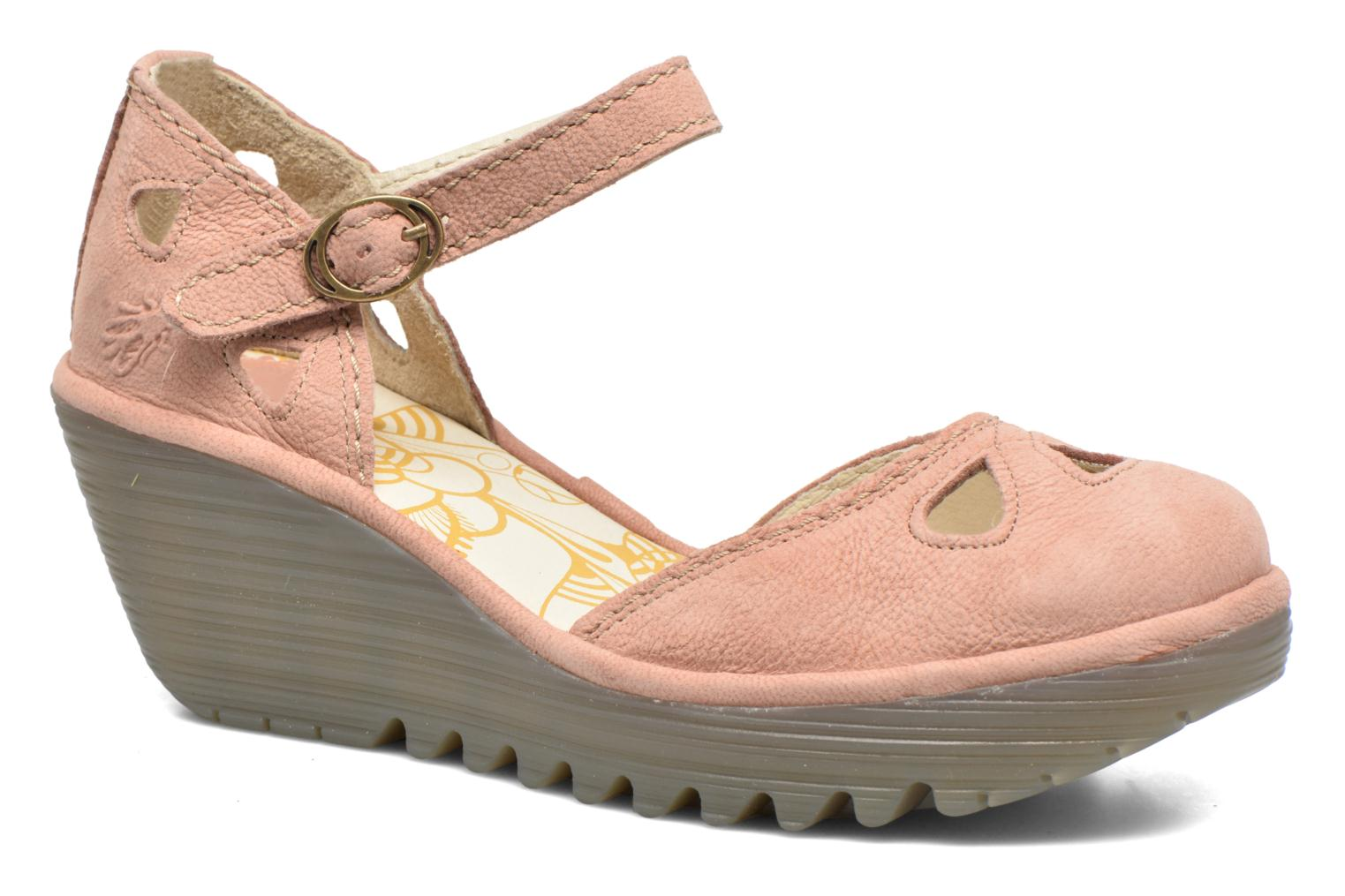 Sandals Fly London Yuna Pink detailed view/ Pair view