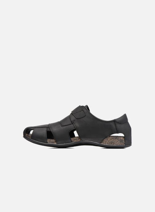 Sandalen Panama Jack Fletcher schwarz ansicht von vorne