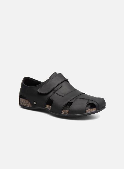 Sandales et nu-pieds Panama Jack Fletcher Noir vue détail/paire