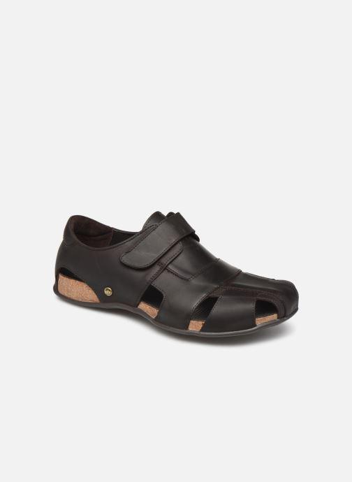 Sandales et nu-pieds Panama Jack Fletcher Marron vue détail/paire
