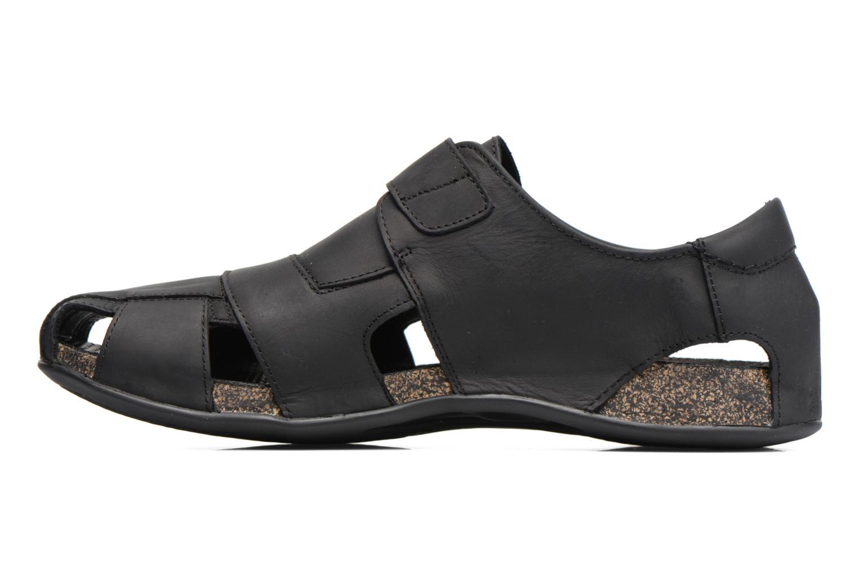 Sandales et nu-pieds Panama Jack Fletcher Noir vue face