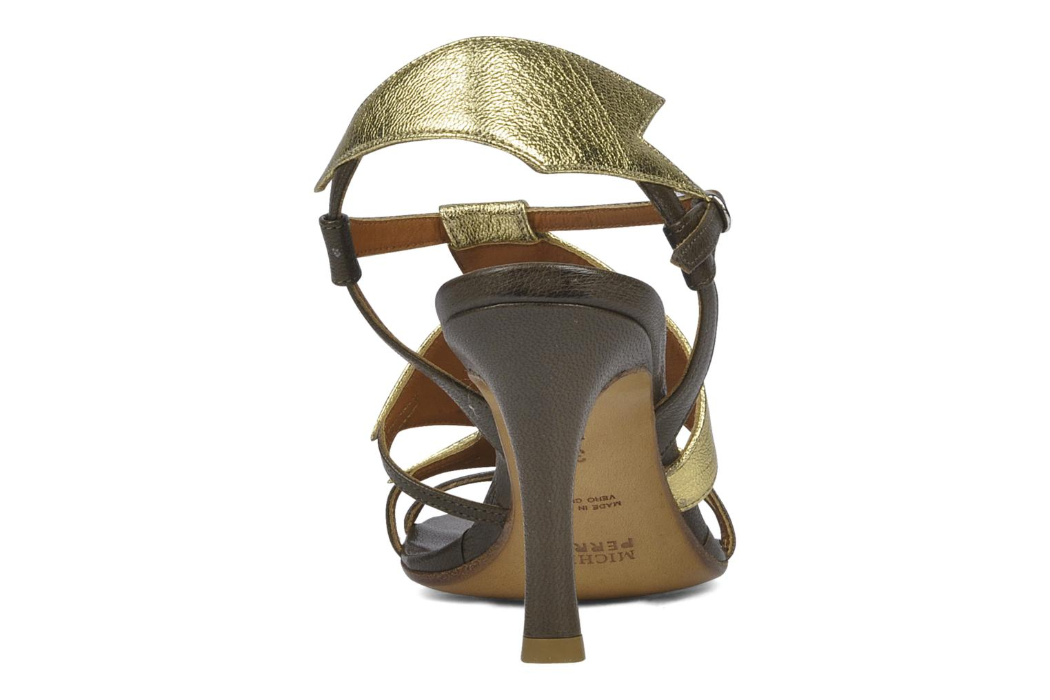 Sandals Michel Perry Themis Bronze and Gold view from the right