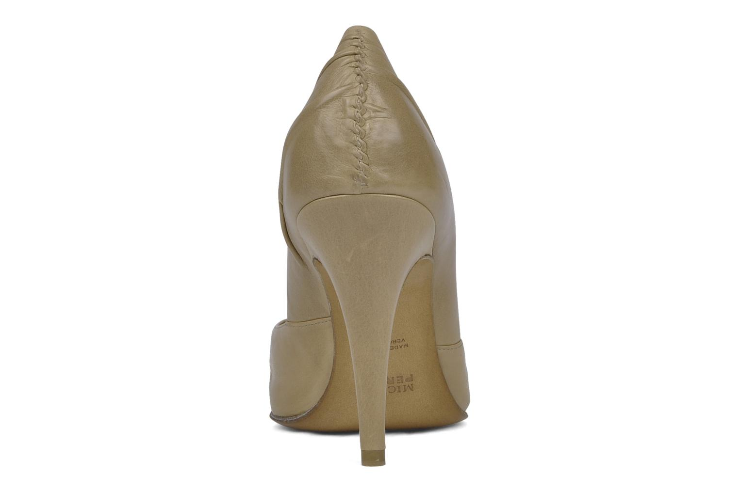 High heels Michel Perry Nemesis Beige view from the right