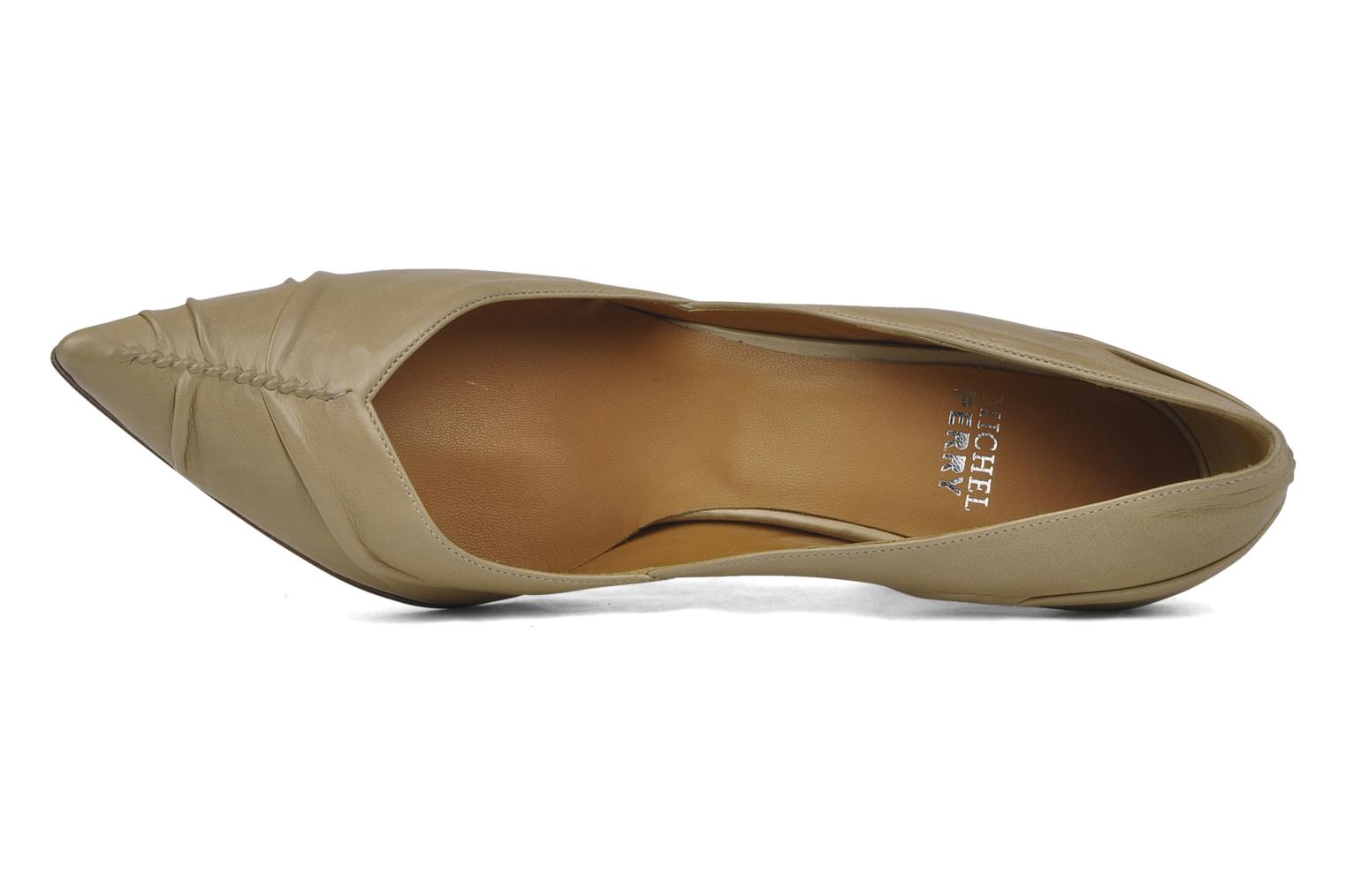 High heels Michel Perry Nemesis Beige view from the left