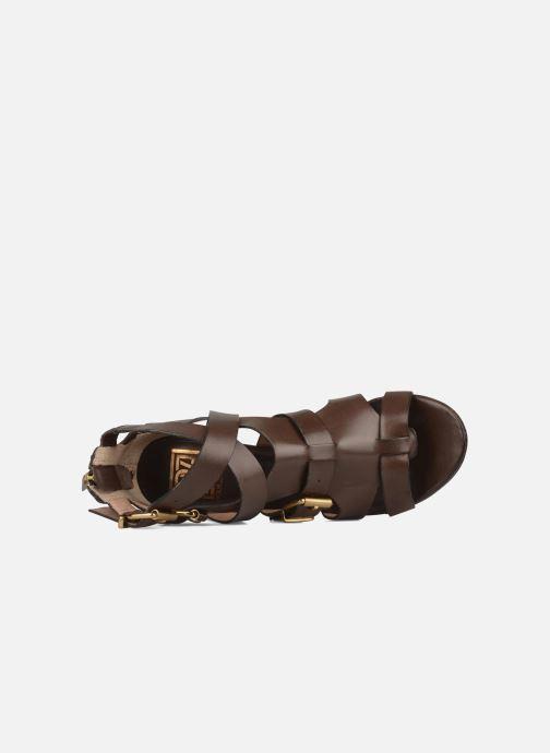 Sandales et nu-pieds Pour La Victoire Vanna Marron vue gauche