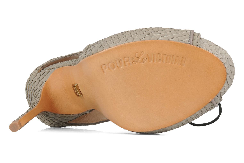 Sandales et nu-pieds Pour La Victoire Rima Gris vue haut