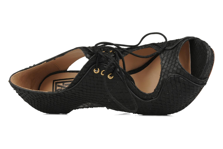 Sandales et nu-pieds Pour La Victoire Rima Noir vue gauche